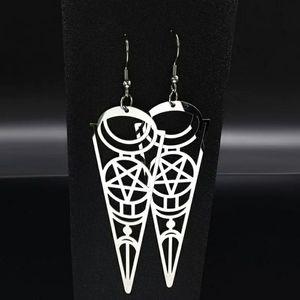 Pentacle Dagger Earrings